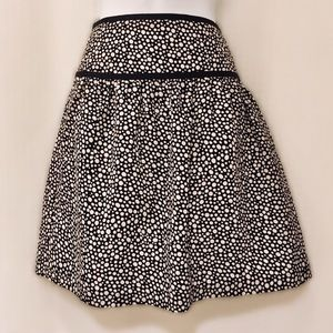 The Limited Black & Cream Bubble Skater Skirt, NWT